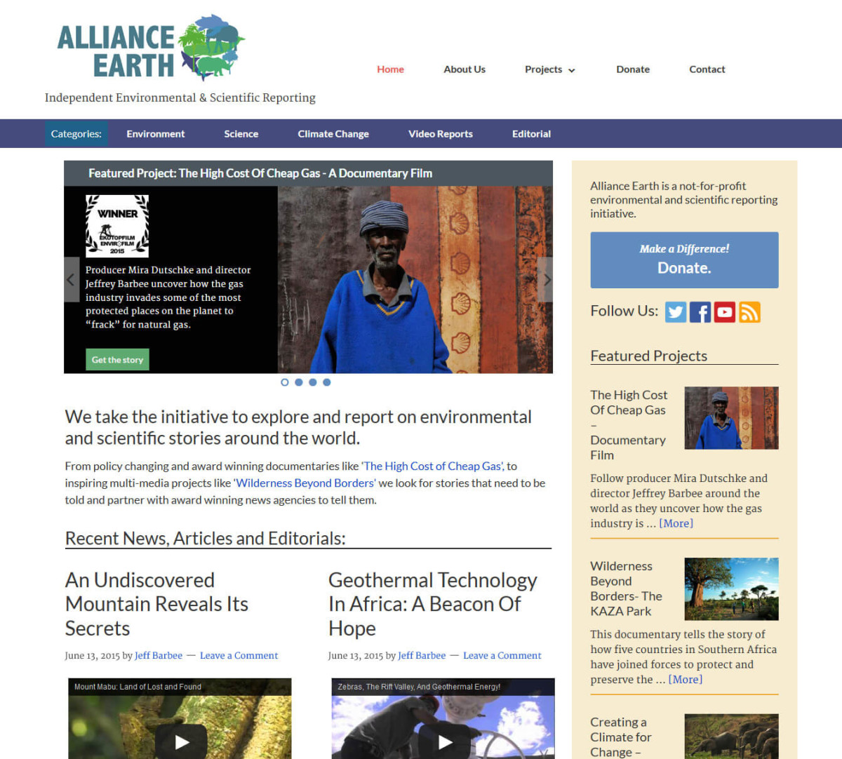AllianceEarth.org Website