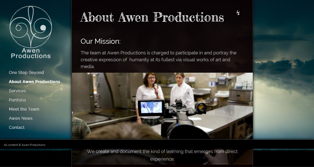 Awen Productions Website