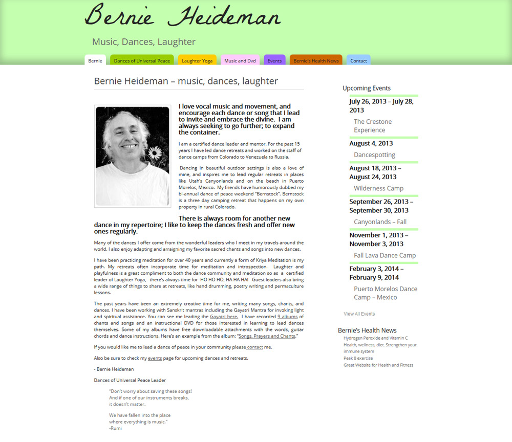 Bernie Heideman Website