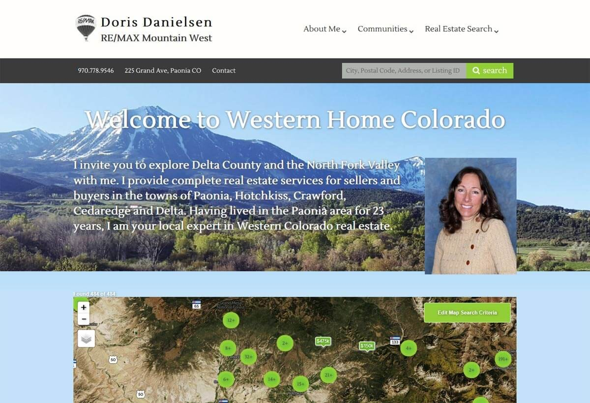 Doris Danielsen – Real Estate Website