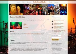 Embodyingrhythm.com - From the design portfolio of Aaron Jerad