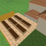 Raised bed garden design concept