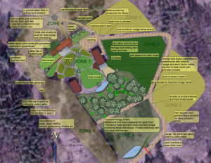 A permaculture site design for land in Estonia.