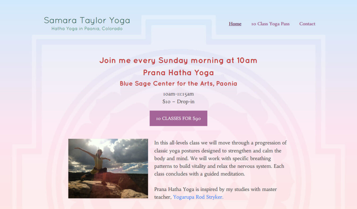 Samara Taylor Yoga Website