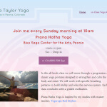 Samara Taylor Yoga Website Snapshot