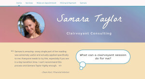 SamaraTaylor.com Site design by Aaron Jerad Designs