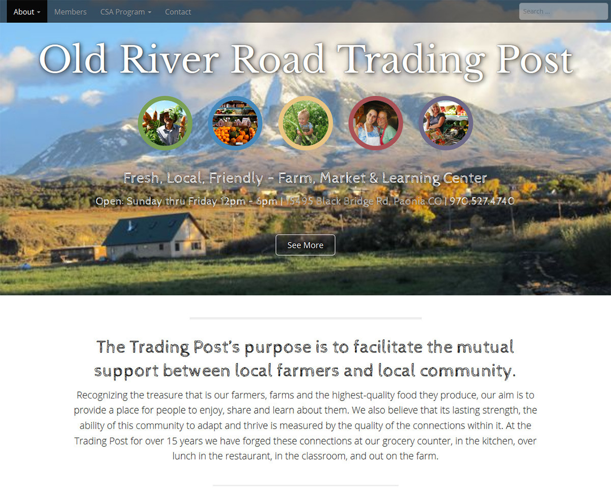 Paonia Trading Post Website