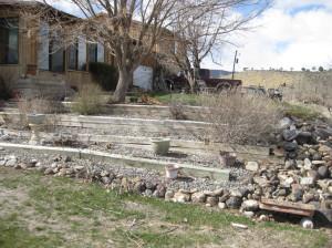 Terraces before garden conversion