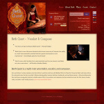 Snapshot of Beth Quist.com Website