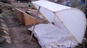 Setting up a cold frame for year round growing.