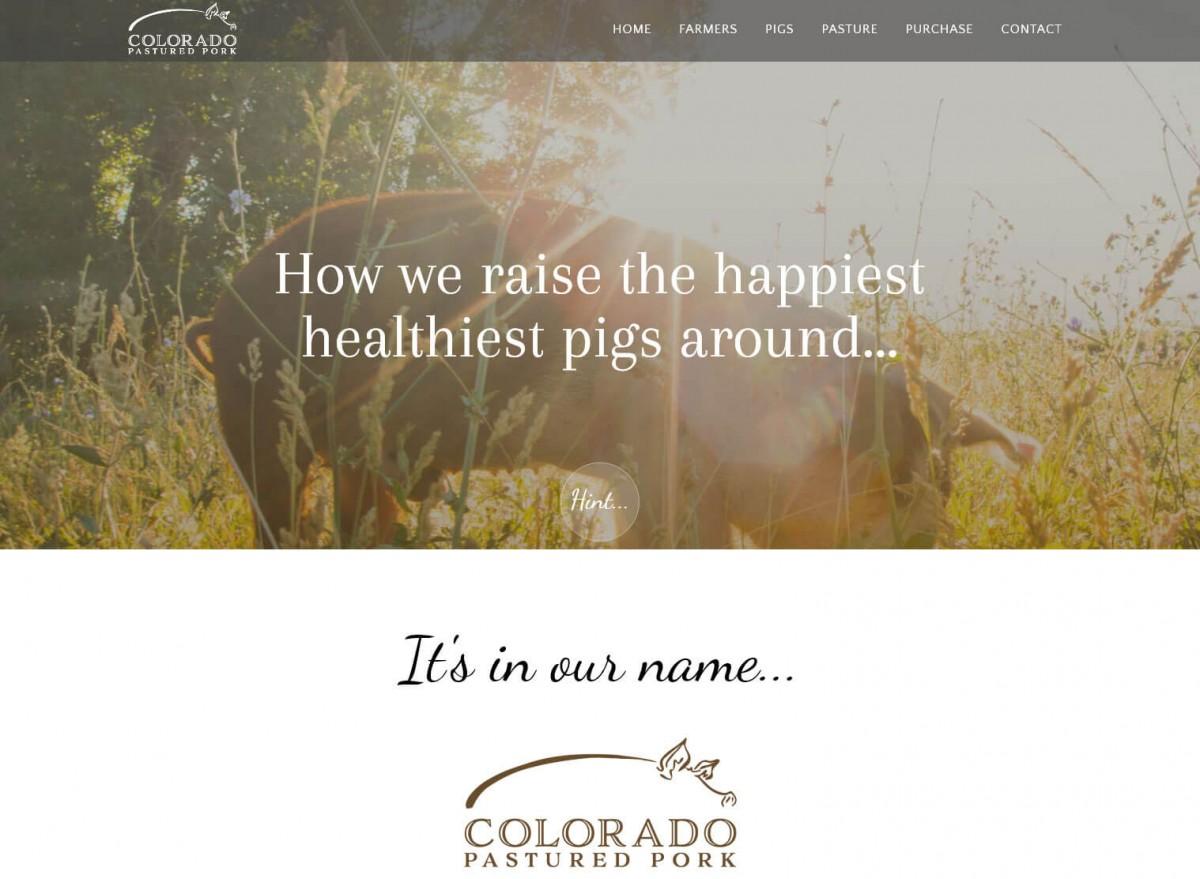 Colorado Pastured Pork Web Design