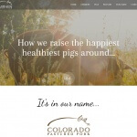 Colorado Pastured Pork Website Design Snapshot