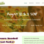 Farm to Fiddle Festival Hotchkiss Web Design
