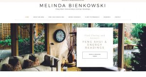 Melinda Bienkowski Feng Shui Website Snapshot
