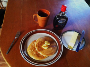 Gluten-free sourdough pancake breakfast