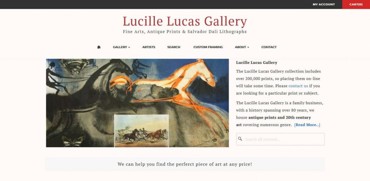 Lucille Lucas Gallery Web Design