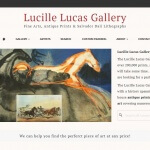 An image of the web design for Lucille Lucas Gallery