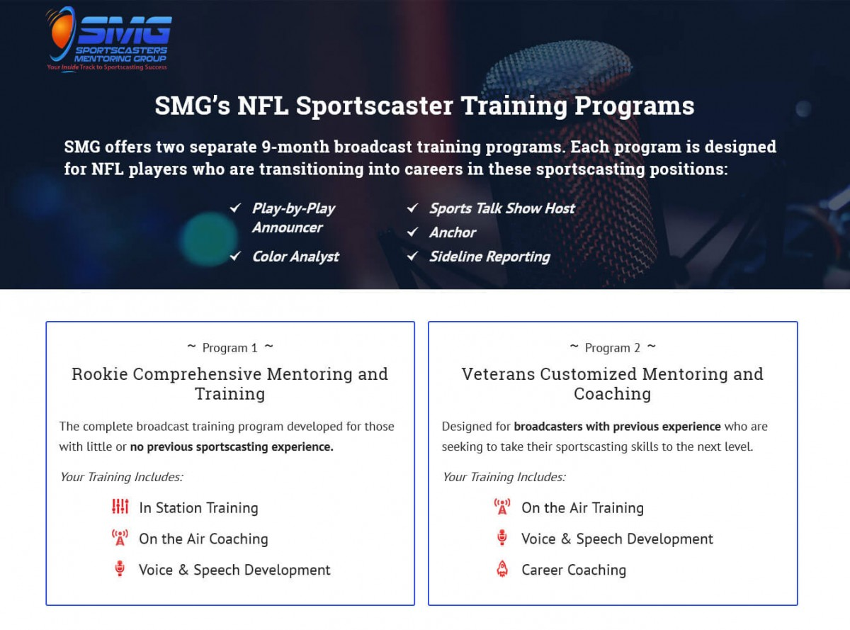 SMG NFL Sportscaster Training Page