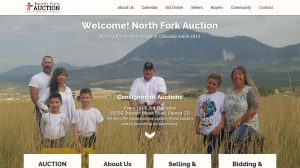 North Fork Auction - Website Design Snapshot