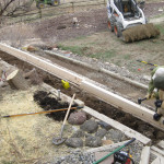 Extending the walls of the terrice for garden beds