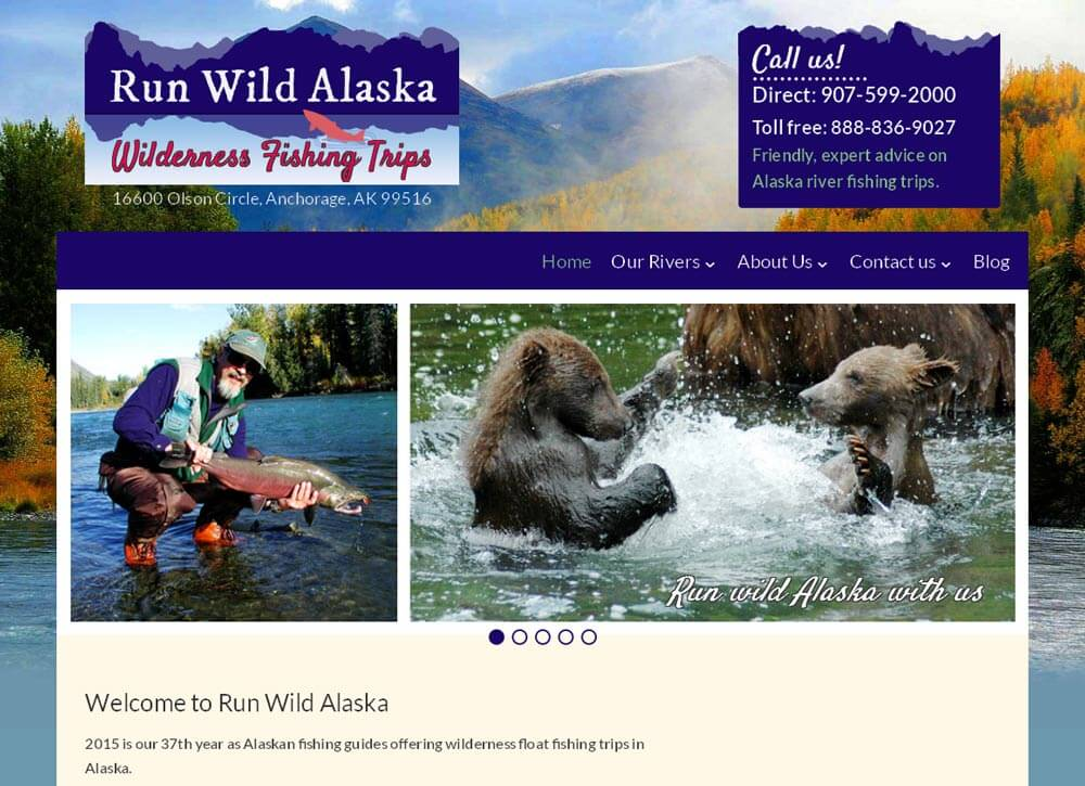 Run Wild Alaska Website
