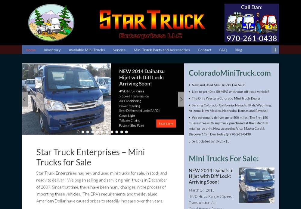 Star Truck Website