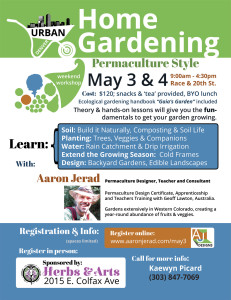 Urban Home Gardening - Permaculture Style May3-4 Denver