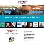 Top Dog Tours - Website Screenshot