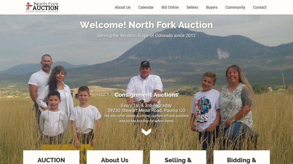 North Fork Auction - Website Design Snapshot