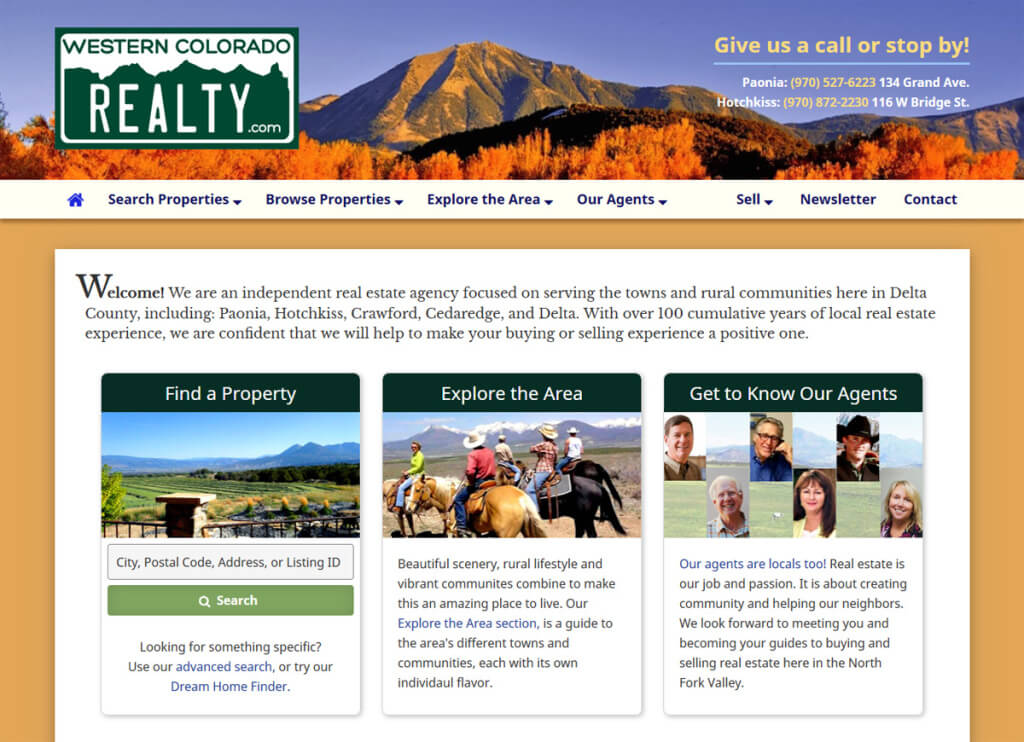 Web Design for Western Colorado Realty.com